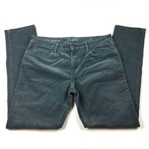 Ann Taylor LoFt blue grey corduroy skinny pant